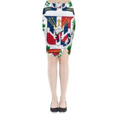Coat Of Arms Of The Dominican Republic Midi Wrap Pencil Skirt