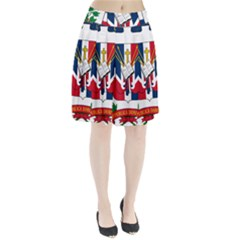 Coat Of Arms Of The Dominican Republic Pleated Skirt