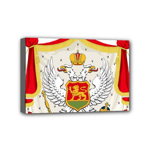 Coat Of Arms Of Kingdom Of Montenegro, 1910 1918 Mini Canvas 6  x 4