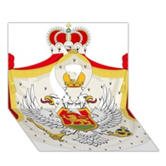 Coat Of Arms Of Kingdom Of Montenegro, 1910 1918 Ribbon 3D Greeting Card (7x5)
