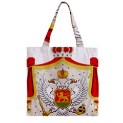 Coat Of Arms Of Kingdom Of Montenegro, 1910 1918 Zipper Grocery Tote Bag