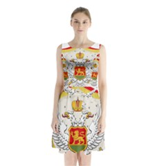 Coat Of Arms Of Kingdom Of Montenegro, 1910 1918 Sleeveless Waist Tie Dress