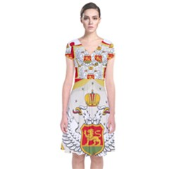 Coat Of Arms Of Kingdom Of Montenegro, 1910 1918 Short Sleeve Front Wrap Dress
