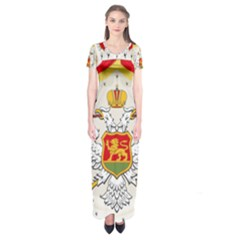 Coat Of Arms Of Kingdom Of Montenegro, 1910 1918 Short Sleeve Maxi Dress