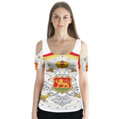 Coat Of Arms Of Kingdom Of Montenegro, 1910 1918 Butterfly Sleeve Cutout Tee