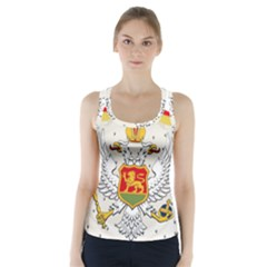 Coat Of Arms Of Kingdom Of Montenegro, 1910 1918 Racer Back Sports Top