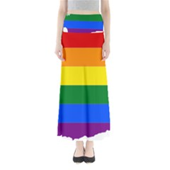 Lgbt Flag Map Of Washington Maxi Skirts