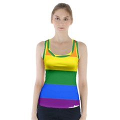 Lgbt Flag Map Of Washington Racer Back Sports Top