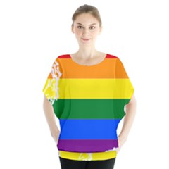 Lgbt Flag Map Of Washington Blouse