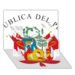 Great Seal Of Peru  Miss You 3D Greeting Card (7x5)