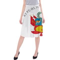 Great Seal Of Peru  Midi Beach Skirt