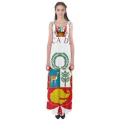 Great Seal Of Peru  Empire Waist Maxi Dress