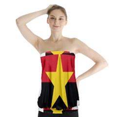 Mpla Flag Map Of Angola  Strapless Top