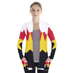 Mpla Flag Map Of Angola  Women s Open Front Pockets Cardigan(P194)