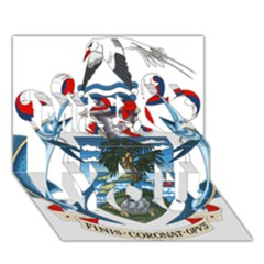 Coat Of Arms Of The Seychelles Miss You 3D Greeting Card (7x5)