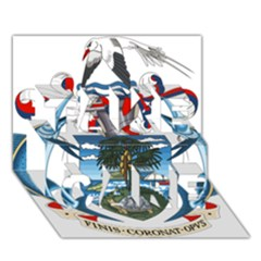 Coat Of Arms Of The Seychelles TAKE CARE 3D Greeting Card (7x5)