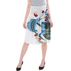 Coat Of Arms Of The Seychelles Midi Beach Skirt