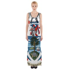 Coat Of Arms Of The Seychelles Maxi Thigh Split Dress