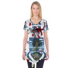 Coat Of Arms Of The Seychelles Short Sleeve Tunic