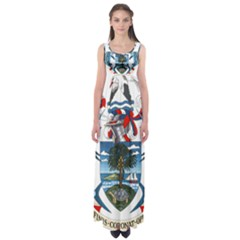 Coat Of Arms Of The Seychelles Empire Waist Maxi Dress