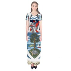 Coat Of Arms Of The Seychelles Short Sleeve Maxi Dress