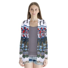 Coat Of Arms Of The Seychelles Drape Collar Cardigan