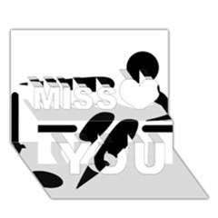 Futsal Pictogram Miss You 3D Greeting Card (7x5)