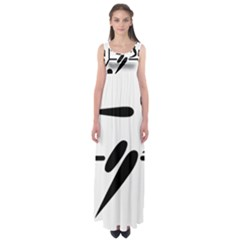 Futsal Pictogram Empire Waist Maxi Dress