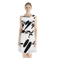 Futsal Pictogram Sleeveless Waist Tie Dress