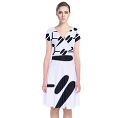 Futsal Pictogram Short Sleeve Front Wrap Dress
