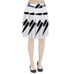 Futsal Pictogram Pleated Skirt