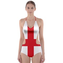 Traditional Flag Of Sardinia  Cut-Out One Piece Swimsuit