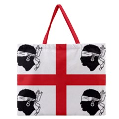 Traditional Flag Of Sardinia  Zipper Large Tote Bag