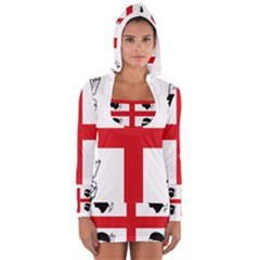 Traditional Flag Of Sardinia  Women s Long Sleeve Hooded T-shirt
