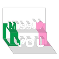 Newfoundland Tricolour Miss You 3D Greeting Card (7x5)