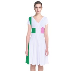 Newfoundland Tricolour Short Sleeve Front Wrap Dress