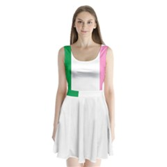 Newfoundland Tricolour Split Back Mini Dress