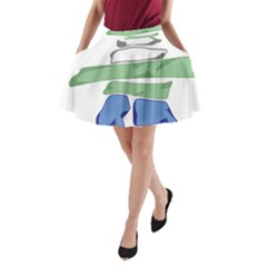 Flag Of Nunatsiavut A-Line Pocket Skirt