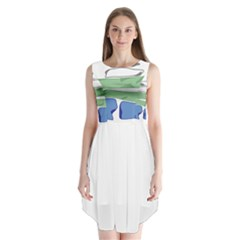 Flag Of Nunatsiavut Sleeveless Chiffon Dress