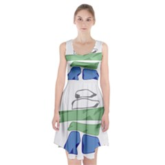 Flag Of Nunatsiavut Racerback Midi Dress