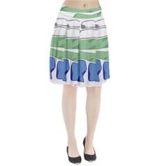 Flag Of Nunatsiavut Pleated Skirt