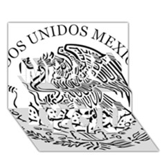 National Seal Of Mexico Miss You 3d Greeting Card (7x5)