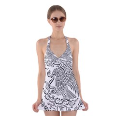 National Seal Of Mexico Halter Swimsuit Dress
