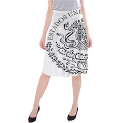 National Seal Of Mexico Midi Beach Skirt