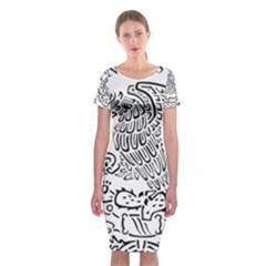 National Seal Of Mexico Classic Short Sleeve Midi Dress