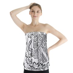 National Seal Of Mexico Strapless Top