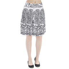 National Seal Of Mexico Pleated Skirt