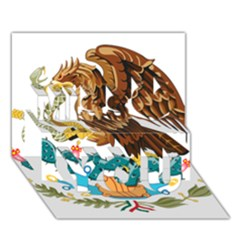 Coat Of Arms Of Mexico  Miss You 3D Greeting Card (7x5)