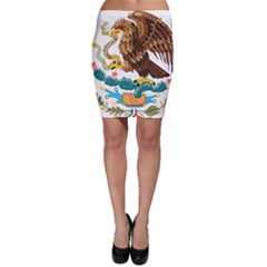 Coat Of Arms Of Mexico  Bodycon Skirt