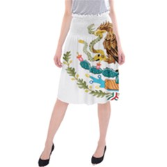 Coat Of Arms Of Mexico  Midi Beach Skirt